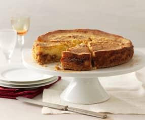 Tarta de queso ricota con mermelada de higos