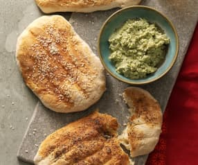 Persian Flatbread with Herbs and Walnut Dip