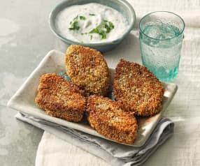 Vegetarische persische Bohnenpatties