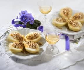 Hrušky s ořechovo-sýrovou pěnou