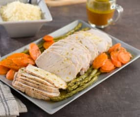 Lomo de cerdo con salsa a las finas hierbas