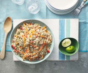 Bolivianischer Reis-Pilaf