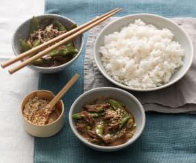 Rindfleisch Teriyaki mit Reis