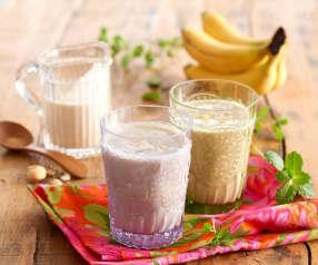 Smoothie avoine-banane-cajou