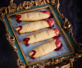 Bloody Almond Finger Biscuits
