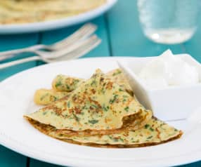 Crêpes with herbs