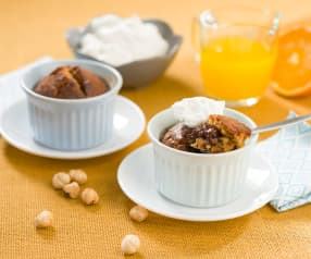 Bizcochos de naranja y avellanas con chocolate (para dos)