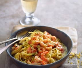Pasta with Prawn and Pepper Sauce