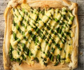 Asparagus and Hollandaise Tart