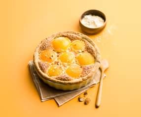 Torta alla crema e albicocche (senza glutine)