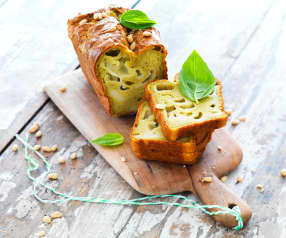 Cake pesto-mozzarella