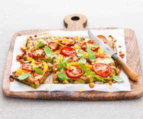 Pizza aux légumes du soleil et basilic