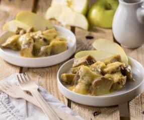 Bocconcini di seitan con salsa di mele