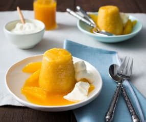 Steamed orange puddings