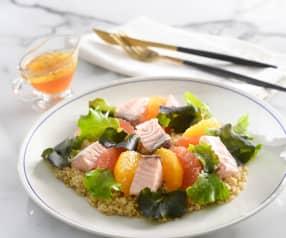 橙香鮭魚藜麥溫沙拉