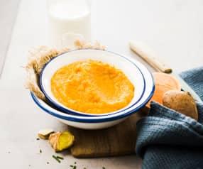 Purée de patate douce au gingembre