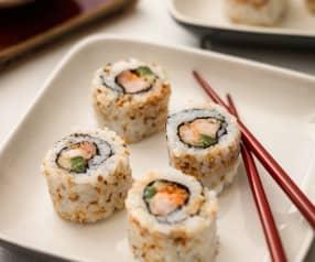 Sushi z krewetkami w tempurze