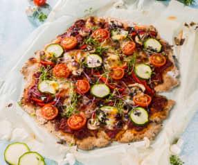 Sommerliche Gemüsepizza (glutenfrei)