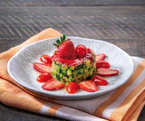 Tartare di zucchine con fragole e pomodori