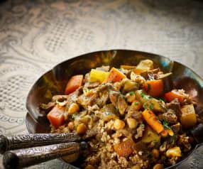 Couscous met lam en groenten
