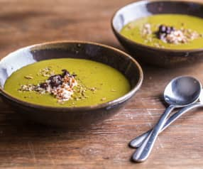 Wintergreen Soup with Quinoa and Black Beans