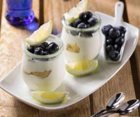 Semifreddo al limone e mirtilli