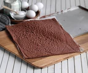Bizcocho plancha de chocolate