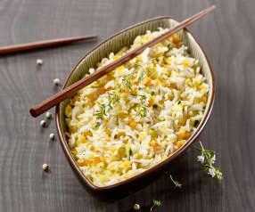 Riz express aux légumes
