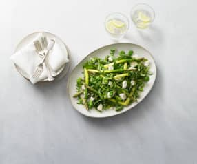 Asparagus and broad bean salad
