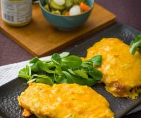 Tostadas galesas de queso (Welsh rarebit)