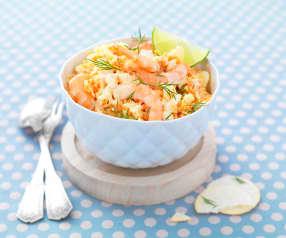 Coleslaw aux crevettes