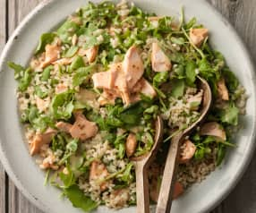 Brown Rice Salad with Trout