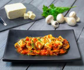 Spezzatino di tofu e funghi (vegan)