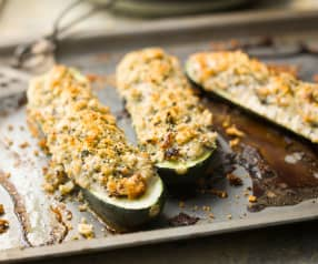 Stuffed Courgettes - Zucchine farcite