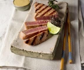 Thunfischsteaks mit Teriyaki-Creme