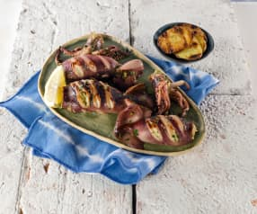 Gefüllte Calamari vom Grill