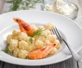 Gnocchi s krevetovo-pórkovou omáčkou