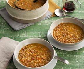 Lentejas con arroz al aroma de jerez