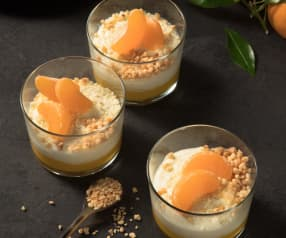Mandarinenmousse mit weißer Schokolade