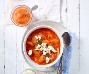 Tomaten-Mango-Suppe