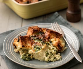 Baked Spinach and Cheese Strata