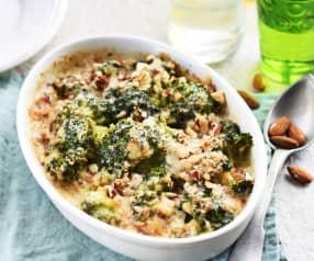 Gratin de brocoli au parmesan