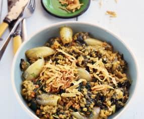 Curry de lentilles aux épinards