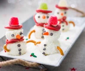 Cake pops muñeco de nieve