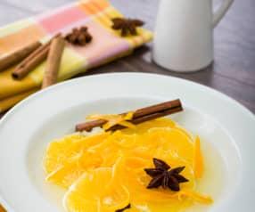 Naranja en almíbar de especias