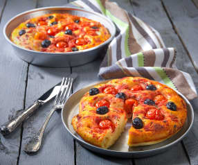 Pizza barese ai pomodorini