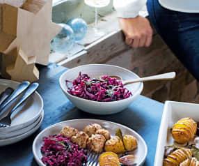 Boulettes de viande et pommes de terre au laurier