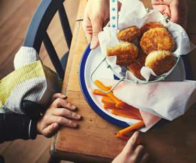 Croquettes de cabillaud, frites de carotte