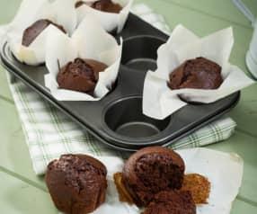 Muffins de cacao (sin huevo y sin lactosa)