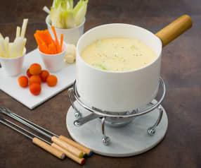 Fondue de queso manchego y cebolletas